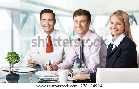 Business. Business people - stock photo