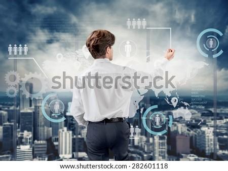 Business, businessman, growing. - stock photo
