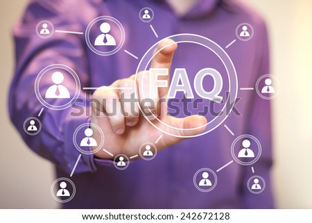 Business button FAQ connection web communication icon - stock photo