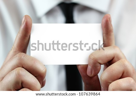 Business card - stock photo