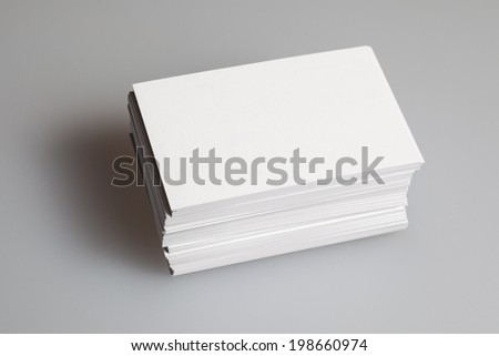 Business card Blank stack picture - stock photo