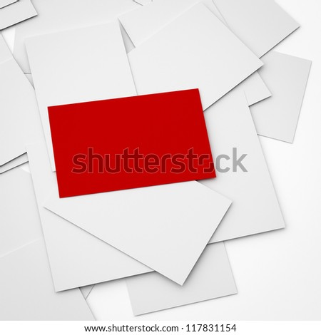 business card conceptual background, a stack of cards with only the top card is not covered.