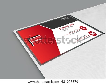 business card - 3D illustration - stock photo