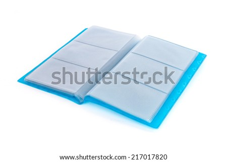 Business card holder isolated on white background - stock photo