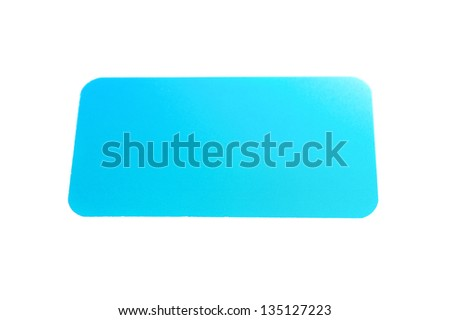 Business card, isolated on white