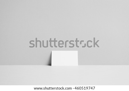 Business Card Mock-Up (85x55mm) - Wall Background