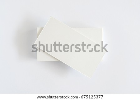 Business card on white background.
