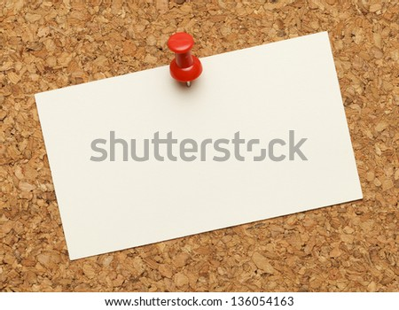 Business card posted on cork board stock photo 100 legal business card posted on a cork board with red tack pin colourmoves