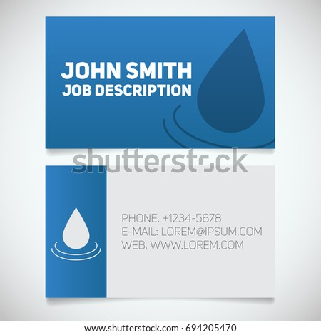 water saving brochure design stock vector 338657978 shutterstock. Black Bedroom Furniture Sets. Home Design Ideas