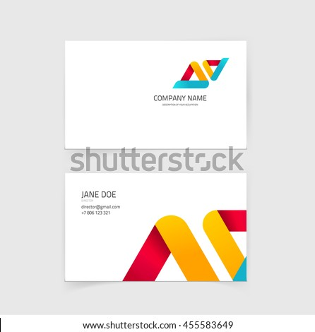 Business card vector layout design visiting stock illustration business card vector layout design visiting card with technology constructions background template image reheart Images