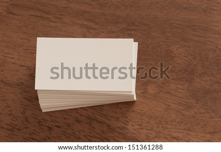 Business Card Visualization Template - stock photo