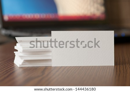 Business Card Visualization Template for Design Presentation - stock photo