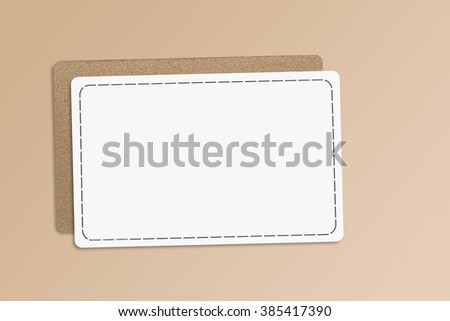 Business cards, banks plastic cards mock up - stock photo