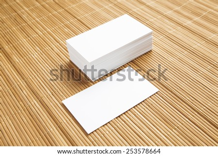 Business cards blank mockup - stock photo