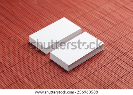Business cards blank mockup - template - stock photo