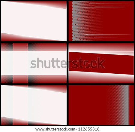 Business cards in red