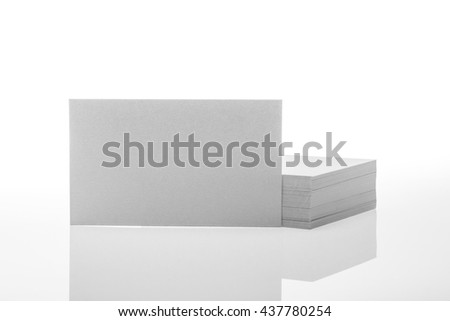 business cards on white background.
