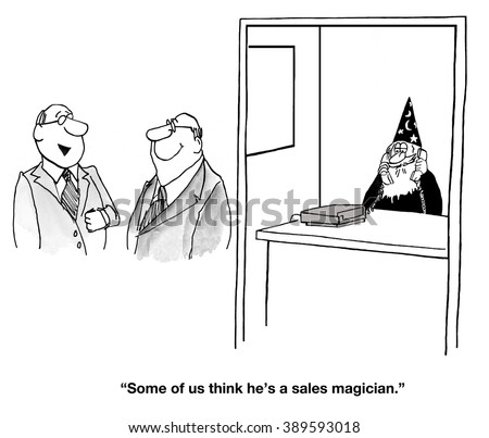 Business cartoon about selling.