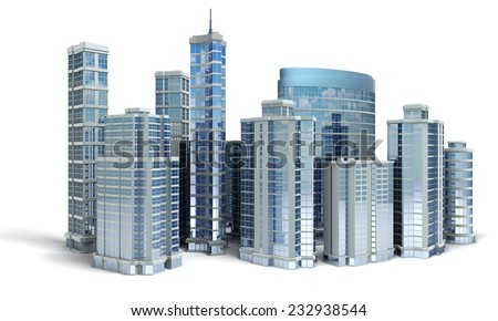 Business center - stock photo