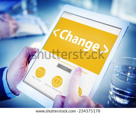 Business Change Creativity motivation Office Working Concept - stock photo