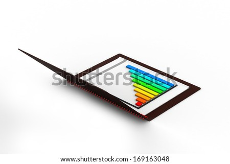 Business chart and files - stock photo