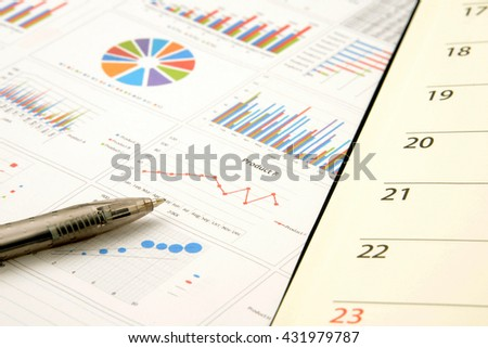 Business chart and personal organizer