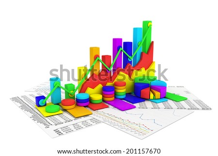 Business chart background