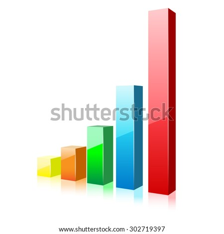 Business Chart Icon on a white background. Illustration.