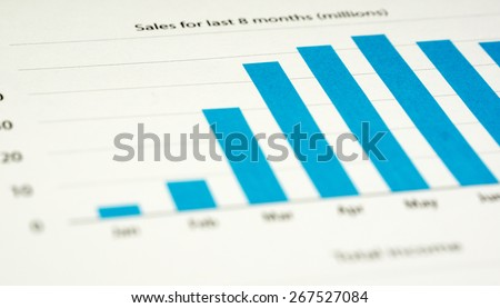 Business Chart - Sales - stock photo