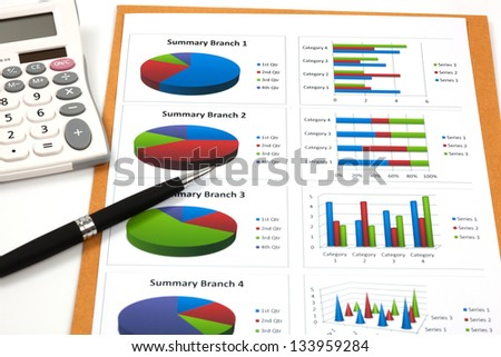 business chart showing financial success