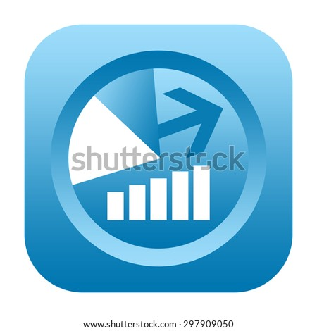Business charts and graphs icon - stock photo