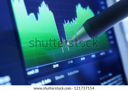 Business charts and markets - stock photo