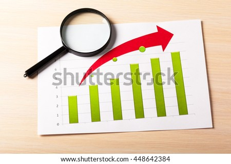 Business Charts Green - stock photo