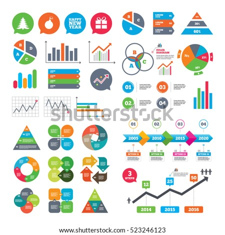Business Charts Growth Graph Happy New Stock Illustration 523246123