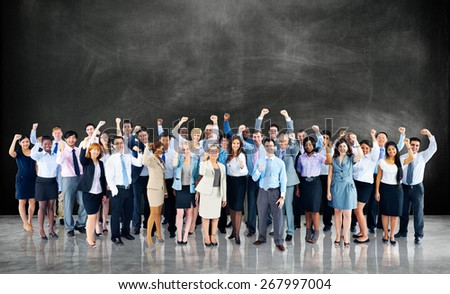 Business Cheerful Cooperation Happiness Team Concept - stock photo