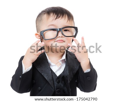 Business child wear glasses