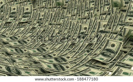 Business clipart - money wave - stock photo