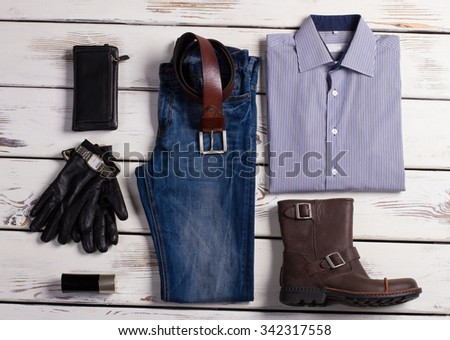 Business clothes of a successful man. - stock photo