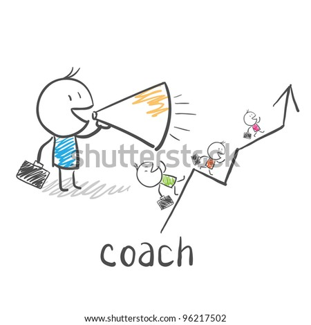 Business coach, trainer - stock photo
