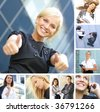 business collage - stock photo