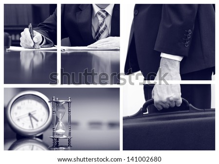 Business collage, business concepts, business metaphors - stock photo