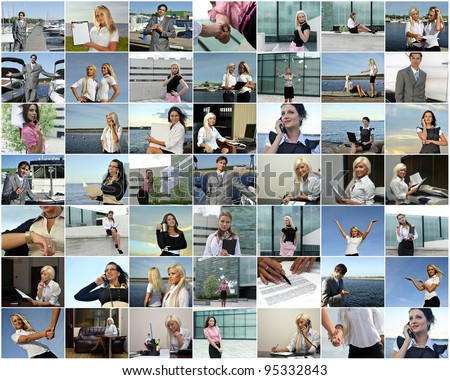 Business collage. Made of 49 photos. - stock photo