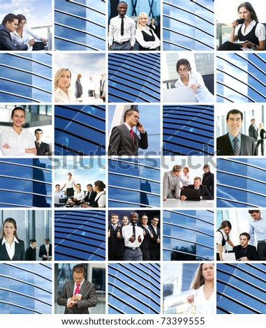 Business collage made of some elements - stock photo