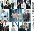 Business collage made of some images - stock photo