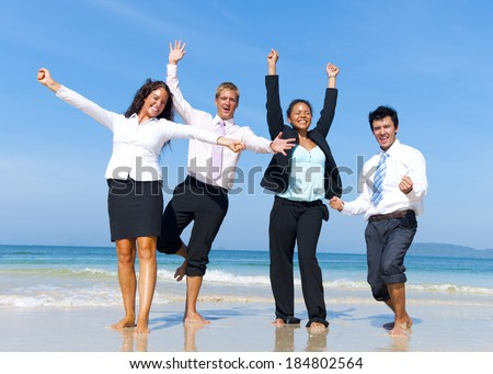 Business Colleagues Celebrating - stock photo