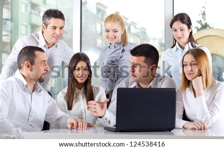 Business colleagues discussing during a meeting