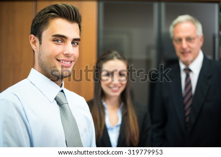 Business colleagues in an office