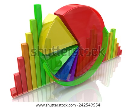 Business colorful charts  - stock photo
