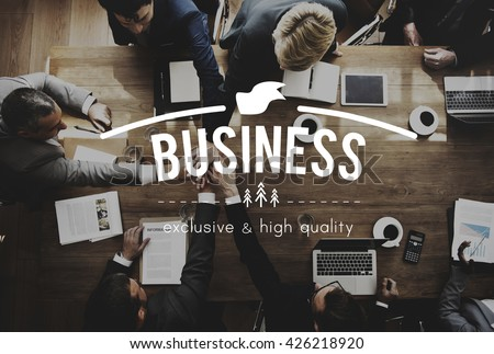 Business Commercial Corporate Enterprise Firm Concept - stock photo