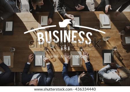 Business Commercial Corporate Enterprise Firm Concept - stock photo